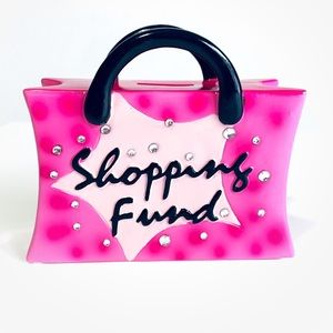 """Ceramic """"Shopping Funds"""" Coin Bank"""